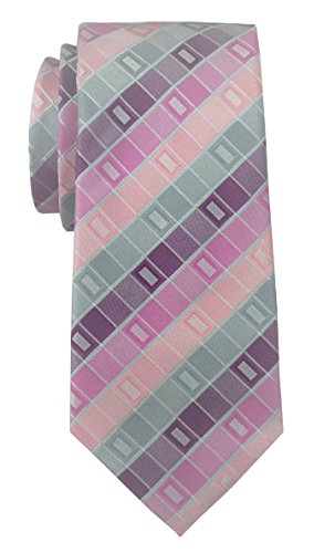 Geoffrey Beene Men's All Day Geo Neck Tie, Pink
