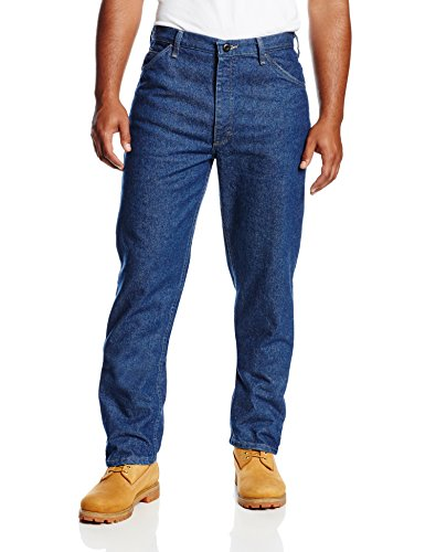 Bulwark Flame Resistant 14.75 oz Cotton Excel FR 31 Waist and 30 Inseam Classic Fit Pre-washed Denim Jean, Blue Denim, 31 Waist and 30 Inseam