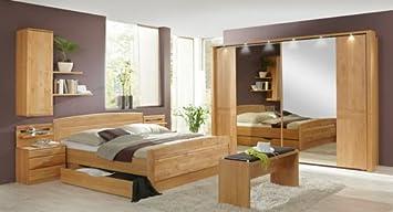 Schlafzimmer in Erle teilmassiv, 4-tlg. Kleiderschrank B: ca. 300 cm ...