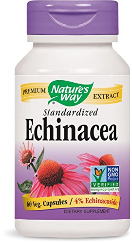 Nature's Way Echinacea Angustifolia, 500 mg of Extract per Serving, 60 Capsules Echinacea Angustifolia Standardized Extract