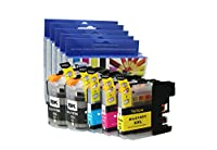 Cool Toner Compatible Ink Cartridge Replacement for Brother LC107 XXL/LC105 XXL (2B, 1C, 1M, 1Y, 5-Pack)