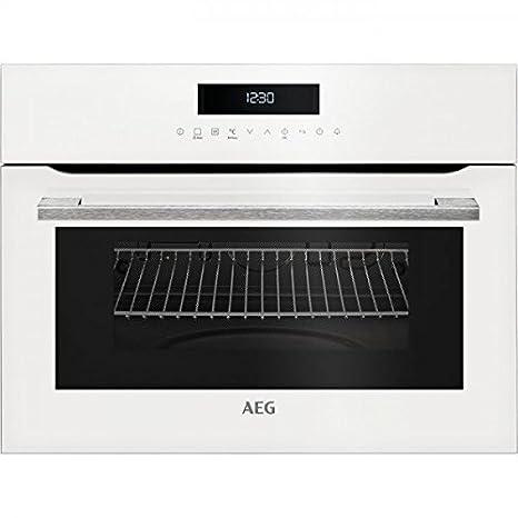 AEG KMK721000W Integrado - Microondas (Integrado, Microondas combinado, 46 L, 1000 W, Tocar, Blanco): Amazon.es: Hogar