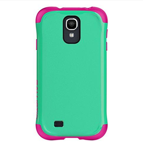 - Ballistic Aspira Case for Samsung Galaxy S4 - Retail Packaging - Mint Green/Strawberry Pink