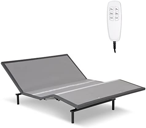 Leggett Platt Pro-Motion 2.0 Low-Profile Adjustable Bed Base with Simultaneous Movement and MicroHook Technology, Charcoal Gray Finish, Queen