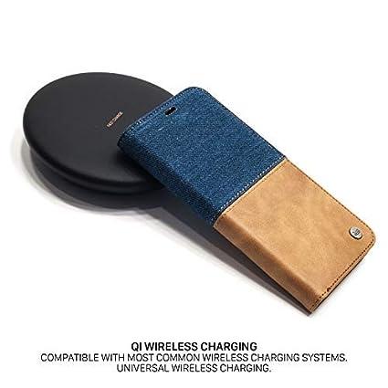 QIOTTI Coque compatible avec Galaxy S9 /Étui en Cuir V/éritable I RFID protection I Portefeuille en cuir I Fentes pour cartes I Coque Housse Etui en Brown