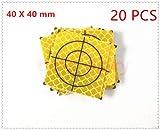 20PCS Yellow Reflector Sheet 40X40MM Reflective