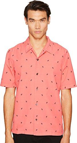 Just Cavalli Men's Palm Pink Button-Up