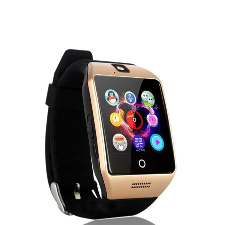Smart Watch with Camera, TechFaith Q18 Bluetooth Smartwatch with Sim Card Slot Fitness Activity Tracker Sport Watch for Android Smartphones (Gold)