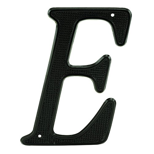 Prime-Line MP4291 House Address Letter ''E'', Black Finish, Zinc Die Cast, 4 in. (Pack of 2) by Prime-Line Products