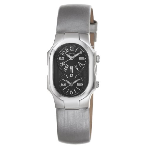 Philip Stein Women's 1-MB-IPL Signature Platinum Silk on Leather Strap Watch