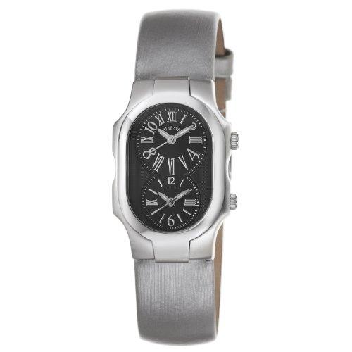 Philip Stein Women's 1-MB-IPL Signature Platinum Silk on Leather Strap Watch