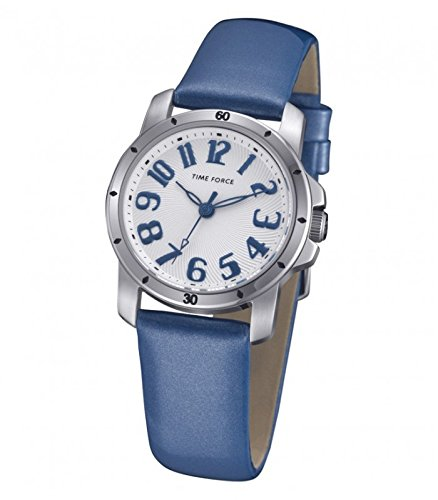 TIME FORCE Reloj Analógico para Mujer de Cuarzo con Correa en Cuero TF4064L03: Amazon.es: Relojes