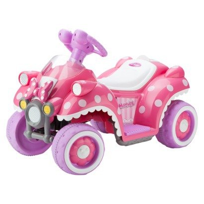 Amazon Com Kid Trax Disney Minnie Mouse 6v Quad Ride On Toys Games