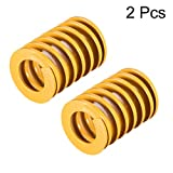 uxcell 30mm OD 40mm Long Spiral Stamping Light Load Compression Mould Die Spring Yellow 2Pcs