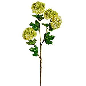 "36"" Silk Snowball Flower Spray -Lime (Pack of 12) 91"