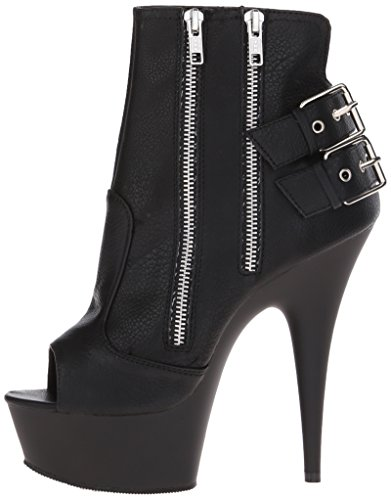 Matte 1015 Leather Mujer Para blk Pleaser Negro Delight Botines Faux blk negro Rqw5UP