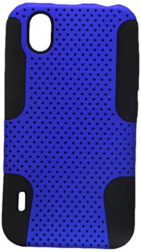 P970 Case Cover (Aimo Wireless LGP970PCPA002 Hybrid Armor Cheeze Case for LG Marquee/Ignite LS855 - Retail Packaging - Black/Blue)