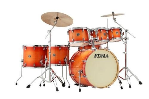 (Tama Superstar Classic 7-piece Shell Pack - Tangerine Lacquer Burst)