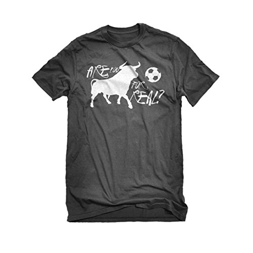 [Mens Are You for Real? T-Shirt Charcoal Grey Large] (Out Of Your League Costumes)