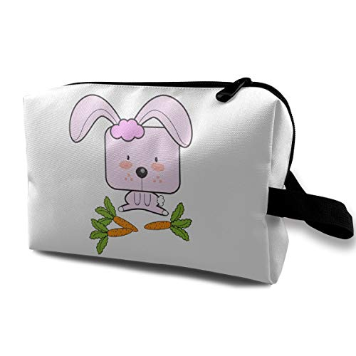 Ailigrfel Small Cute Make Up Pouch for Purse Makeup Brushes Bag Mini Travel Cosmetic Bag -Rabbit Eating Radish