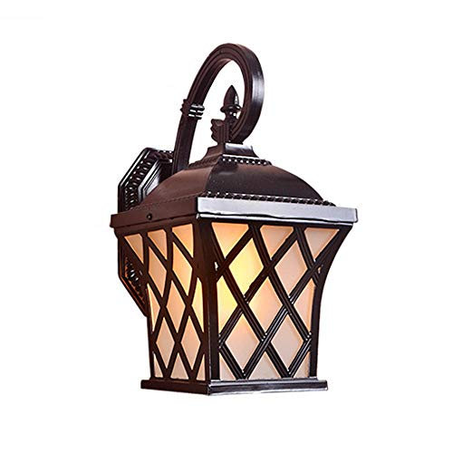 (Classical Victoria Outdoor Wall Light, Black, Cast Aluminum, Anti-Rust, White Glass lamp, traditional outside Wall Lantern, Exterior Light Fixtures, Suitable for Courtyards, Villas, Parks,)