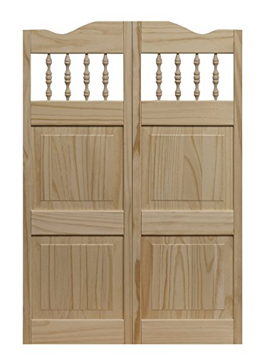 Pinecroft 848042 Carson City Café Interior Swing Wood Door, 30'' x 42'', Unfinished by LTL Home Products
