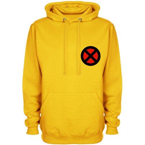 Mens Superhero Hoodie - X SymbolLarge -