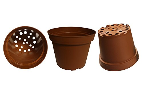 30-Pack, Plastic Pots for Plants, Cuttings & Seedlings, 4-Inch. Color: Terracotta (Terra Plastic Cotta)