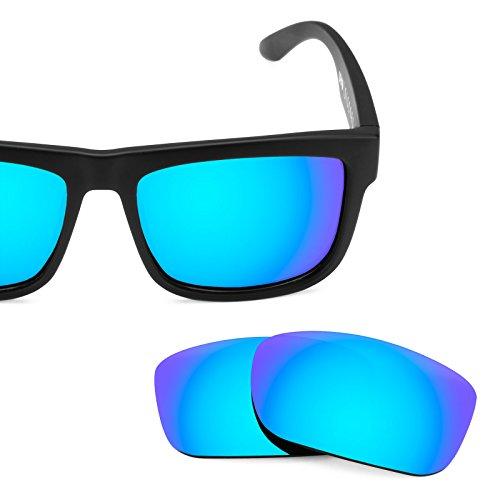 Verres de rechange pour Spy Optic Discord — Plusieurs options Polarisés Elite Bleu Glacier MirrorShield®