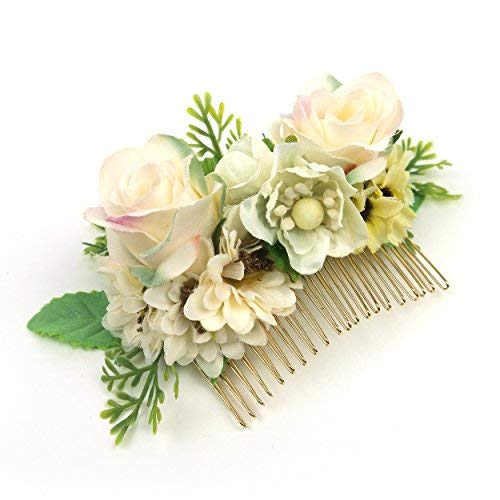 Flower Hair Comb-Bridal Hairpiece-Wedding Hair Comb For Women