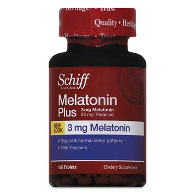 SCHIFF VITAMINS MELATONIN PLUS TABLETS, 180 TAB - Schiff Melatonin Plus