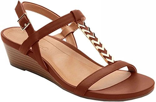 VIONIC Womens Port Cali Leather Sandals Rosten