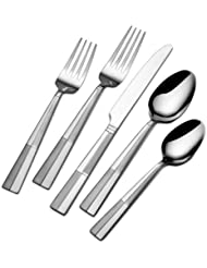 International Silver Arabesque Frost Stainless Steel Flatware, 20 Piece Set,  Service For 4
