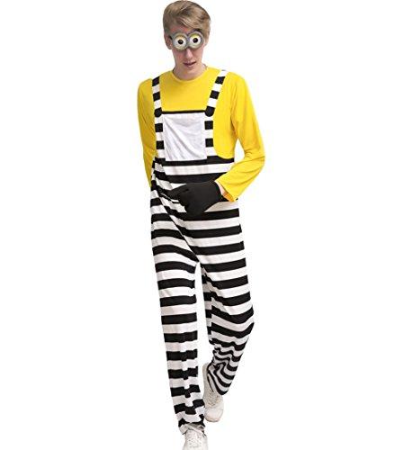 Dreamsoar Minion Movie halloween Male Costume Cartoon Cosplay M