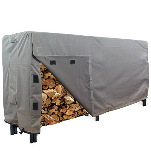 8' Rack (KHOMO GEAR - Heavy Duty Log Rack Cover - 8 Feet - Titan Series - Grey)