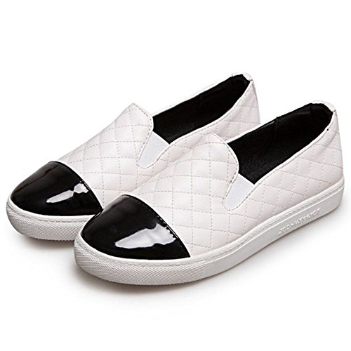 White VulusValas Court Flat Fashion Women Shoes AAqXxOw7