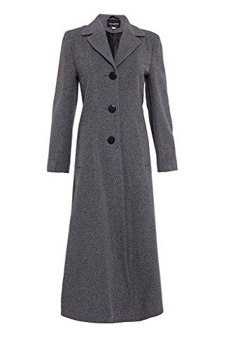 De La Creme Damen Wollmantel Lang Amazonde Bekleidung