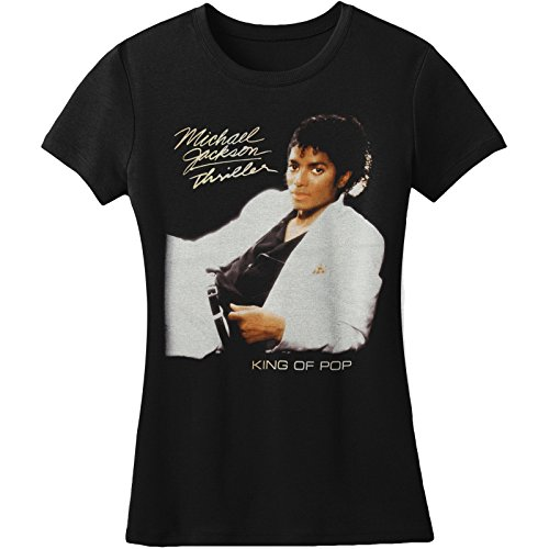 Bravado Girls T-shirt (Bravado  Michael Jackson Thriller Juniors Girls Jr Black)