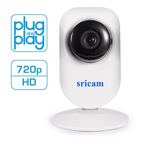 Sricam SP720 Plug & Play Wireless IP Camera 720p HD - Video Monitoring, Home Surveillance, Baby Monitor - Two Way Audio, Night Vision, Motion Sensor – Monitor On iPhone, iPad, and Android