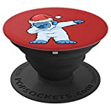 Christmas Dabbing Bigfoot Yeti Abominable Snowman - PopSockets Grip and Stand for Phones and Tablets