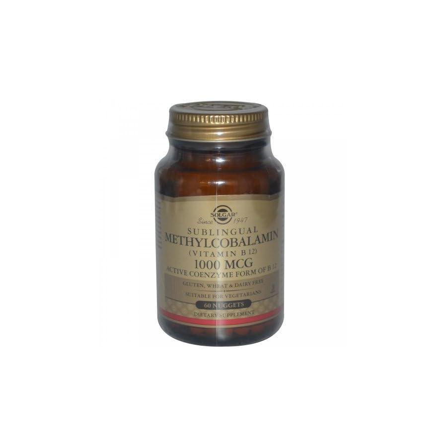 Solgar Methylcobalamin Vitamin B12 Nuggets, 1000 mcg, 60 Count