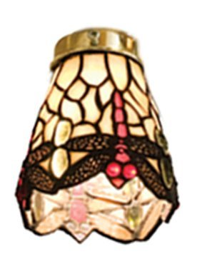 Tiffany Ceiling Fan Shades (4 Inch W Tiffany Scarlet Dragonfly Fan Light Shade Ceiling Fixture)