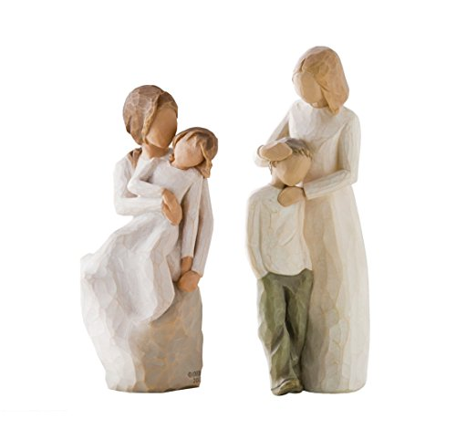 Mother Son Statue (Willow Tree Mother & Daughter and Mother & Son Figurines by Susan Lordi)