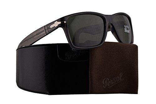 Persol PO3195S Sunglasses Grey w/Green Lens 58mm 105031 PO 3195-S PO3195-S PO ()