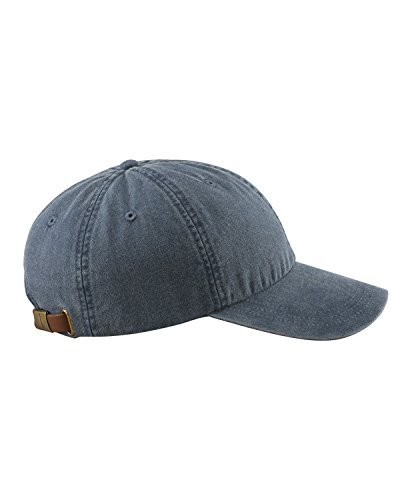 Adams 6-Panel Low-Profile Washed Pigment-Dyed Cap, Navy, OS