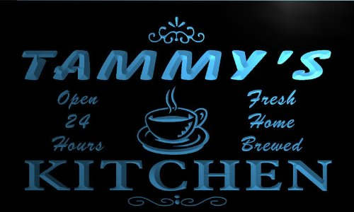 pc075-b Tammy's Family Name Kitchen Decor Neon Sign