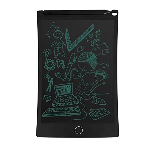 "Viotek Writing Tablet - 8.5"" Writing Surface with Viotek Eye-Guard Technology, Comes with Stylus and Stylus Holder, Lightweight, Green Ink Markings, 4 Magnets"