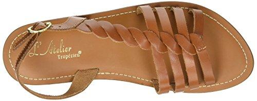 L'ATELIER TROPEZIEN Sandales Tresse Cote - Sandalias de Gladiador Mujer marrón (tan)