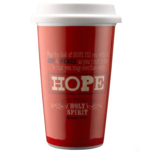 Retro Blessings Hope Ceramic Travel Mug - Romans 15:13 by Christian Art Gift