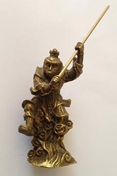 Brass Monkey King Statue Figurine 4.5